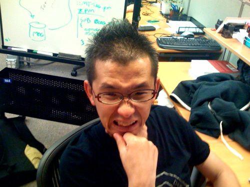 sekimura has a new hairdo